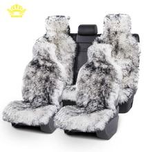корона мех длинные волосы накидка на сиденье автомобиля,из натуральных меха овчины,Универсальный размер для всех модели, авто чехлы для BMW,чехлы для сидений автомобиля для camry 50,чехлы на автомобиль mazda 626