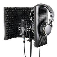 5 패널 접이식 스튜디오 마이크 절연 쉴드 녹음 사운드 흡수기 폼 패널