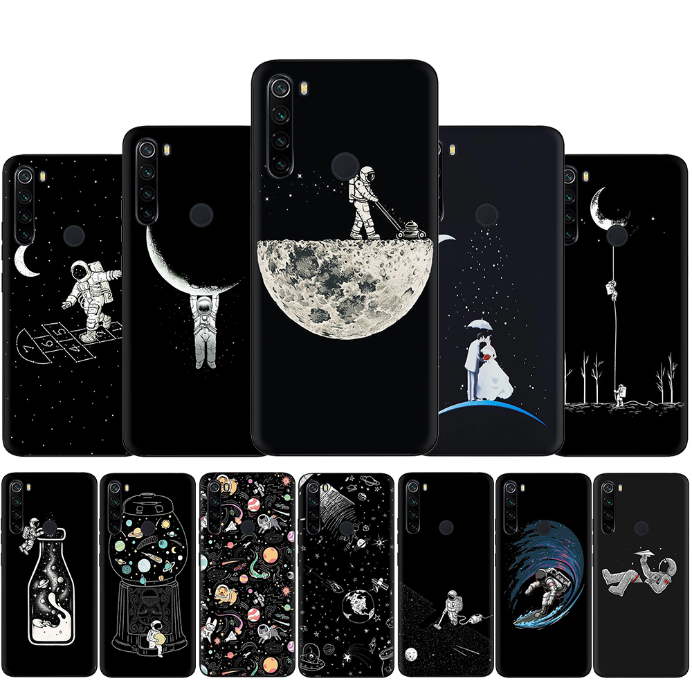 Silicone Case for <font><b>Xiaomi</b></font> <font><b>Redmi</b></font> Note <font><b>4X</b></font> 5 6 7 8 9 Pro Max 8T 9S 5A Prime Back Cover Universe Black <font><b>3D</b></font> Painted Cute Patterned image
