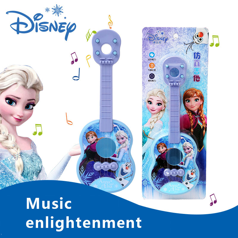 45cm New Genuine Frozen Princess Aisha Violin Guitar Education Children Musical Instruments Toys Children Birthday Gift