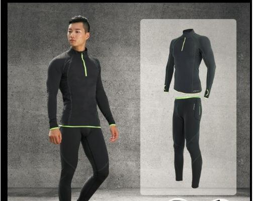 Free Shipping.Brand Men's Tight Sets.dry Fast Underwear.winter Warm Fleece Clothing,fitness Thicker Man Compression Suits