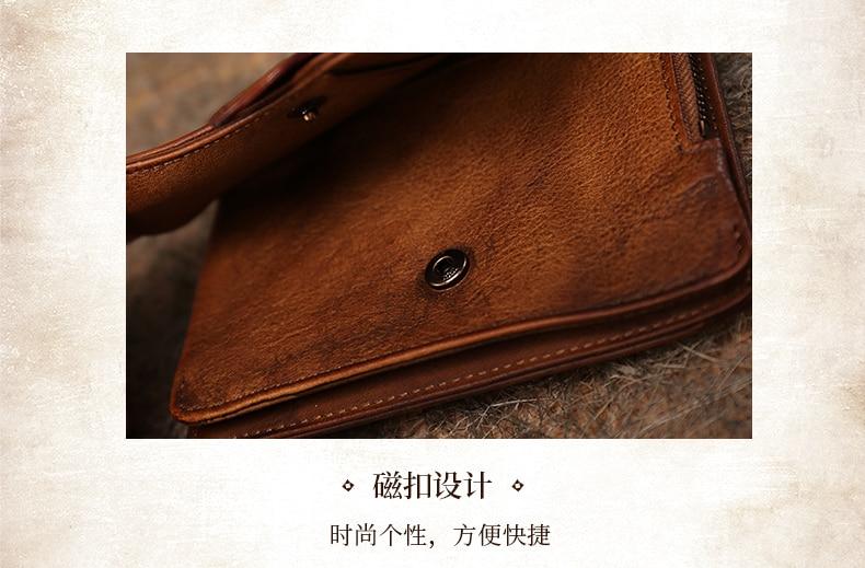fina dobrável artesanal bolsa feminina retro couro