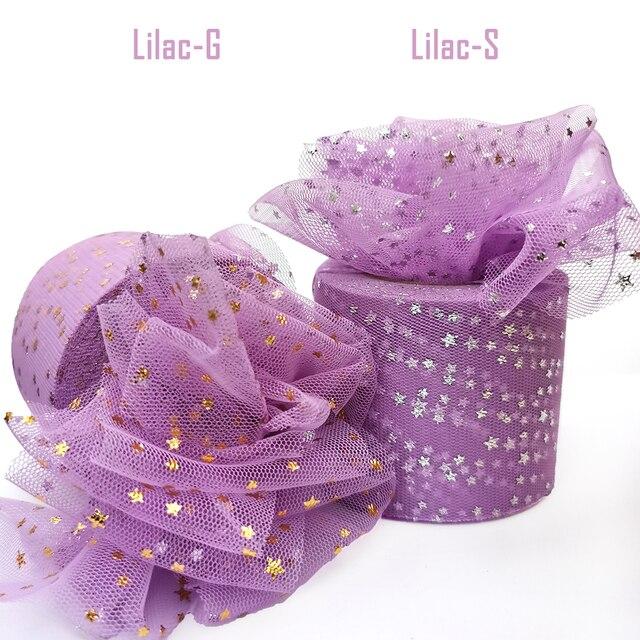 25Yards 6cm Star Tulle Confetti Glitter Mesh Baking Cake Topper Tutu Pom Bow Soft Squine Organza DIY Wedding Birthday Decoration 2