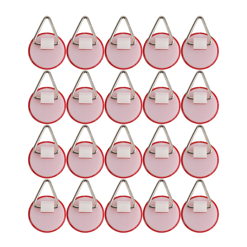20PCS Small Round Invisible Dish Hook Set Portable Self-Adhesive Plate Holder For Wall  #7