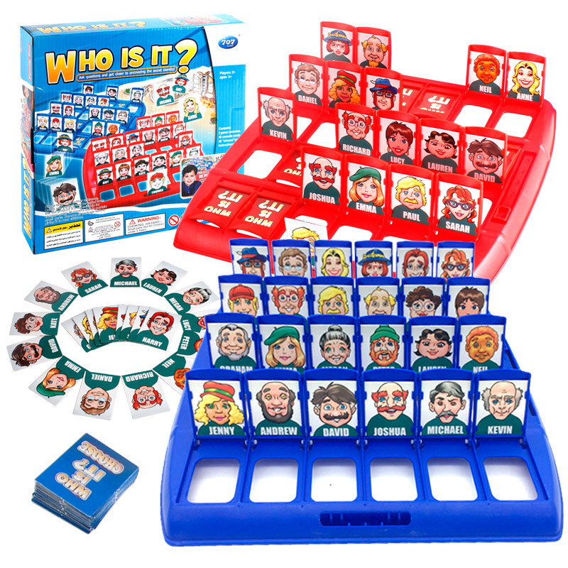 New Who Is It Funny Family Guessing Games Classic Board Game Children Toy Indoor Game Gift Early Education Puzzle Game Chess