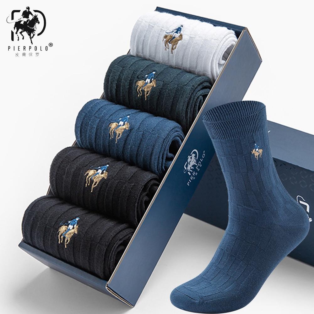 PIER POLO Socks Original New Style Man Dress Socks Happy Men New Brand Business Socks Male Winter Warm Socks 5pairs/lot