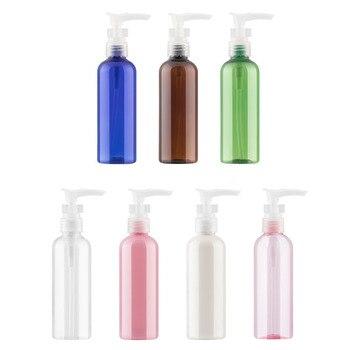 blue brown green clear pink 100ml X 48 bayonet lotion pump container, shower gel shampoo liquid soap dispenser bottle