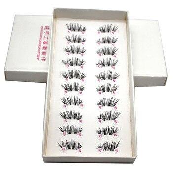 10 Pairs Half Mink Coner Winged Cross Natural / Thick False Eyelashes Soft Eye Lashes Handmade Soft Eye Make up Extension Tools