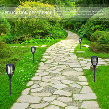 Lawn Light Torch Lamp Solar Powered Square Party Garden Pathways Waterproof 96LED 1900K Outdoor Household Accessory