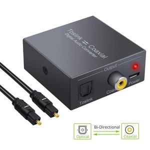 Image 2 - Coax Optical Toslink to Coax Optical audio Converter Adapter,Bi Directional  Switch with dc cable