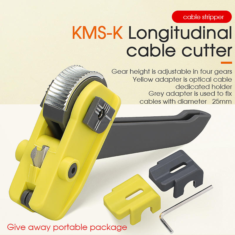 Cutter Cable Stripper Optical-Fiber-Tool Sheath KMS-K Jacket Longitudinal