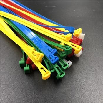 Велосипедная пробная нейлоновая кабельная стяжка 10 шт. 8x300 8*300 ширина 7,6 мм синий красный зеленый желтый белый черный цвет Resuable