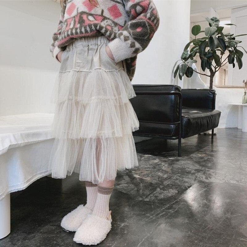 DFXD/модной одежды для крупных девушек юбка принцессы 2020, весенние штаны с эластичной резинкой на талии из сетчатого материала в стиле пэчвор...