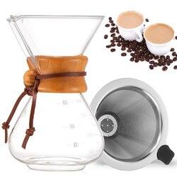 400ml wysokie szkło borokrzemianowe z filtrem dzbanek do kawy profesjonalna instrukcja kapanie kawiarka trwały Bar ekspres do kawy wlać|Dzbanki do kawy|   -