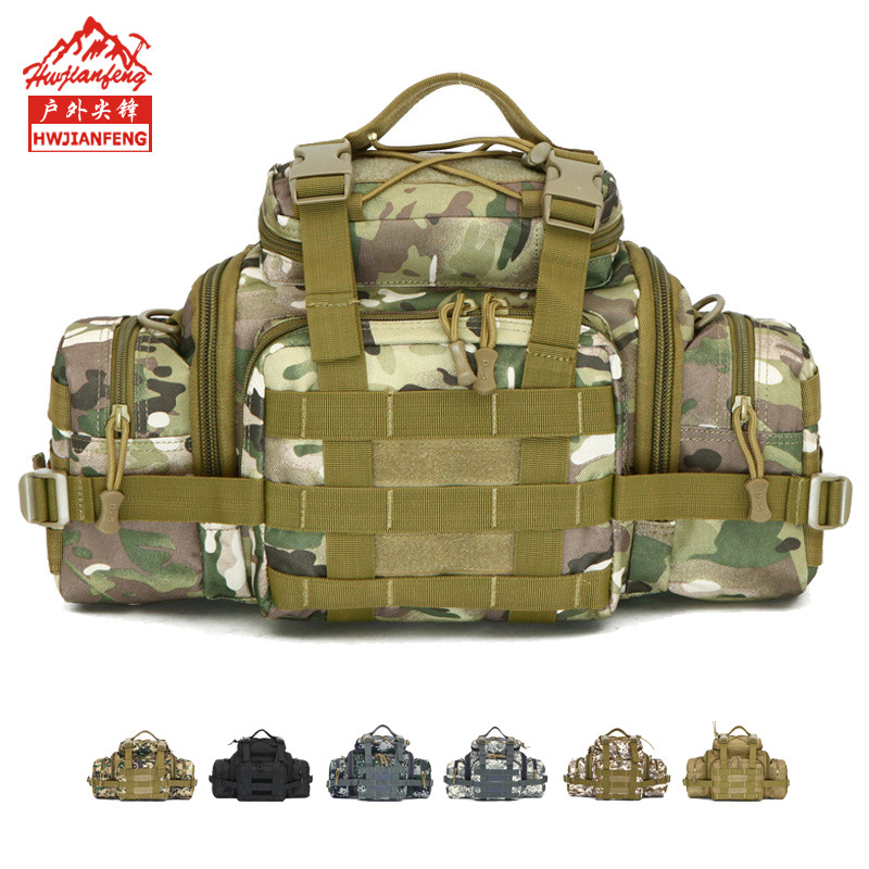 Wholesale Outdoor Sports Camouflage Wallet Army Fans Tactical Waist Pack Multi-functional Men And Women Camouflage Shoulder Cros