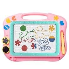 Детская магнитная доска для рисования, доска для письма, доска для граффити, стираемая, портативная, легко носить с собой, розовая