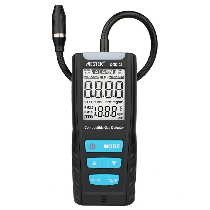 Automotive Combustible Gas Leak Detector with LCD and Sound Alarm to Monitor Air Quality 1