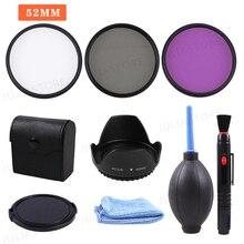 52MM UV CPL FLD Filter Kit + Lens Hood & Cap for Nikon D5500 D5200 D3300 18 55mm