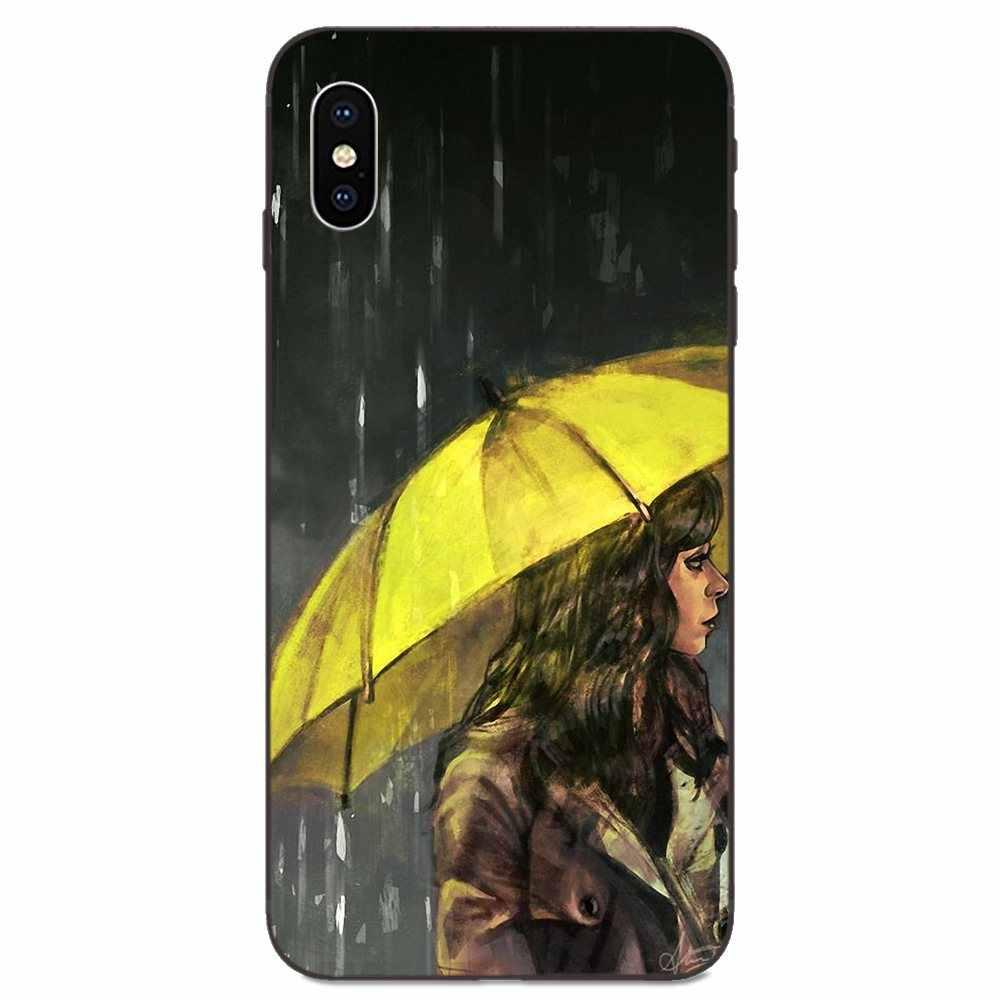Design morbido Per Apple iPhone 4 4S 5 5S SE 6 6S 7 8 11 Plus X XS Max XR Pro Max Ombrello Giallo Come Ho Incontrato Tua Madre