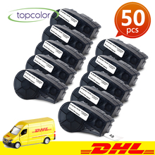 Topcolor 50PK M21-750-595 Compatible Brady 750 595 Label Tapes Vinyl Black on White 19.1mm Adhesive Tape for Brady Bmp21 Plus uniplus 750 595 vinyl label tapes replace brady label printer bmp21 plus labpal idpal m21 750 595 white on green adhesive sticky