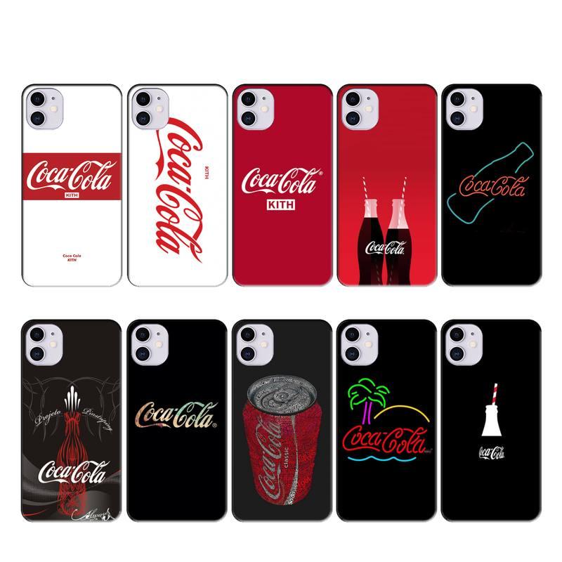 design coke logo case coque fundas for iphone 11 PRO MAX X XS XR 4S 5S 6S 7 8 PLUS SE 2020 cases cover