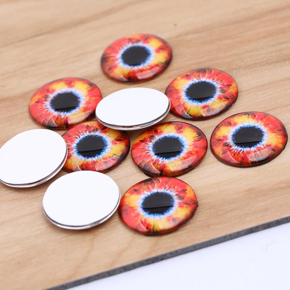 10pcs//lot Dragon Eye Pupil Glass Paster For DIY Blank Setting DIY Parts