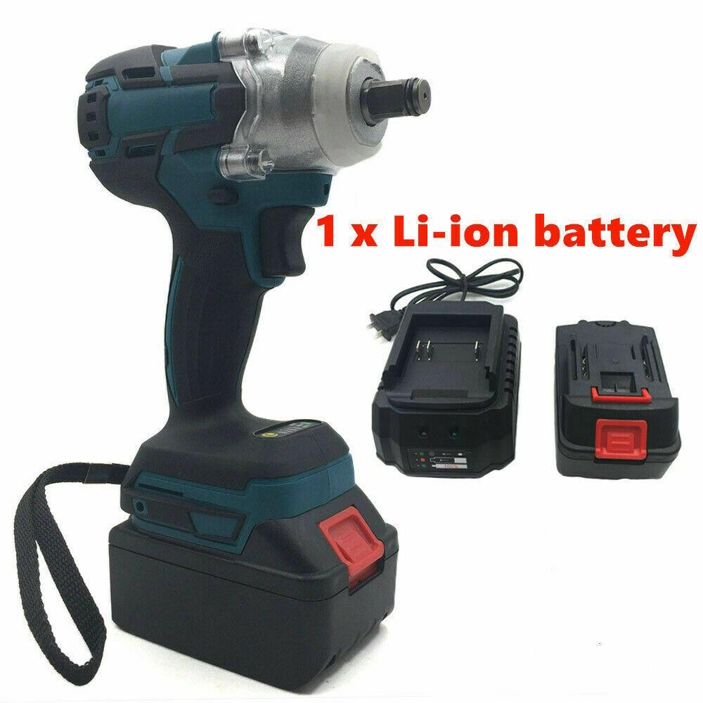 18В Электрический перезаряжаемый бесщеточный ударный ключ беспроводной торцевой ключ для аккумулятора Makita DTW285Z + Набор розеток + аккумулятор 1500 мАч Электрические ключи      АлиЭкспресс