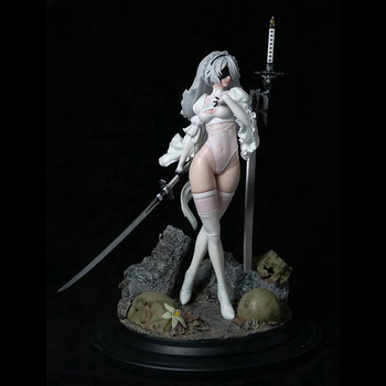 Nier Mechanical Age 2B Two-Headed Limited Statue 1/4  Figure 1
