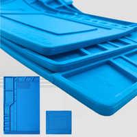 Le plus nouveau S-180 55*35 CM BGA isolation thermique Silicone soudure Pad réparation Maintenance plate-forme tapis de bureau avec Section magnétique