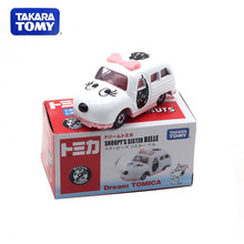 New TAKARA TOMY Tomica Snoopy Bubble Car Model Cartoon White Dream Transport Diecast Metal Alloy Pull Back Car Gift For Kids(China)