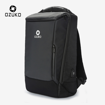 OZUKO Men 17 inch Laptop Backpack Multifunction Large Capacity Waterproof Backpacks Male Business Travel Bags USB Charge Mochila men multifunction backpack detachable laptop travel bag large capacity casual business backpacks