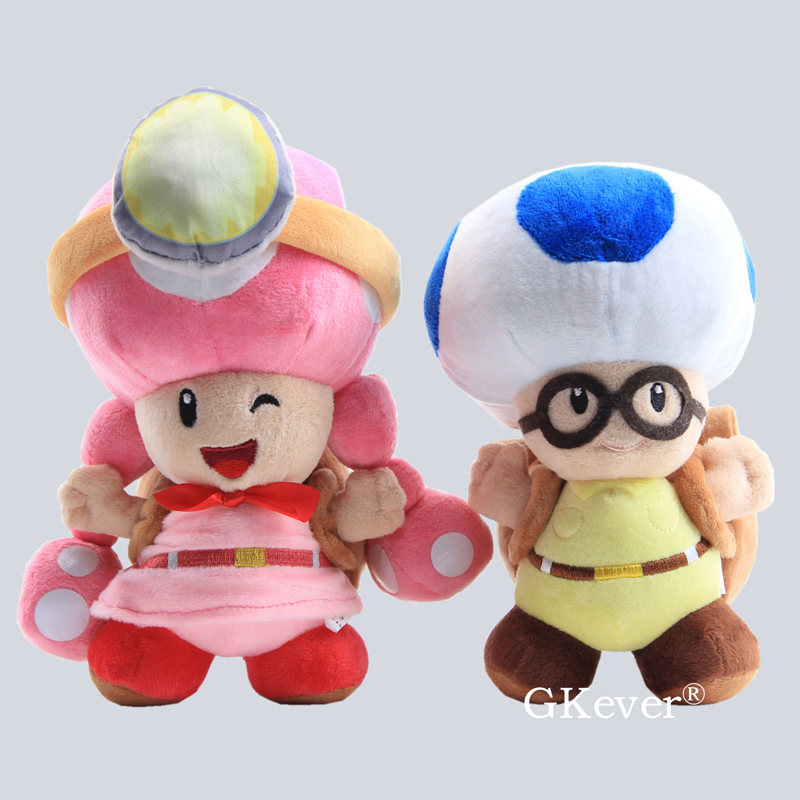 20-21cm Mario Series Toad Plush Stuffed Doll Toy Captain Toad Captain Toadette Plush Toys Children Birthday Gift