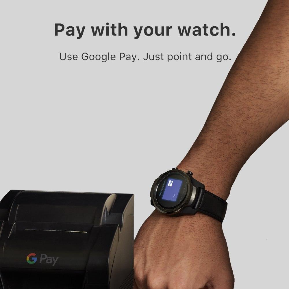 TicWatch Pro argent montre intelligente affichage en couches montre Bluetooth avec GPS paiement NFC IP68 Google Play Original - 6