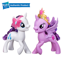 Hasbro My Little Pony Meet Rarity Pony Meet Twilight Figure with accessories necklace Toy for friends Girls Dolls Gifts Presents