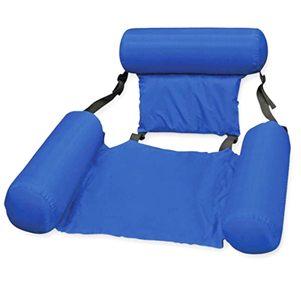 New Large Orange Swimming Pool Float Chair Portable Folding Swimming Ring Air Mattress Water Bed for Adults Children 100*120cm