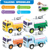 1:20 Baby Diecast Watering Cart Cars Toy Mini Fire Fighting Truck Classic Car Sprinkler Model Early Educational Toys Kids Gift
