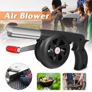 Напольный вентилятор для приготовления барбекю, воздуходувка для барбекю, огнеупорные сильфоны, ручной инструмент для пикника, кемпинга, п...