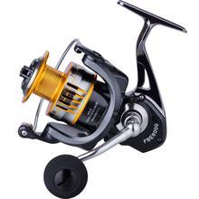 Practical Black 17+1BB Rock Fishing Metal Road Spinning Wheel Fishing Wheel Spool Gear Fishing Reel Fishing accessories