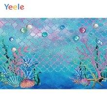 Yeele Sea Fish Ocean Cartoon Mermaid Photography Backdrops Princess Baby Birthday Party Photographic Background For Photo Studio