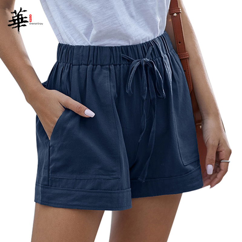 High Waisted <font><b>Women</b></font> <font><b>Mini</b></font> <font><b>Shorts</b></font> Black Lace-up <font><b>Shorts</b></font> with Pockets <font><b>Short</b></font> Pants <font><b>Women</b></font> Summer <font><b>Mini</b></font> <font><b>Shorts</b></font> <font><b>Sexy</b></font> Plus Size for <font><b>Women</b></font> image