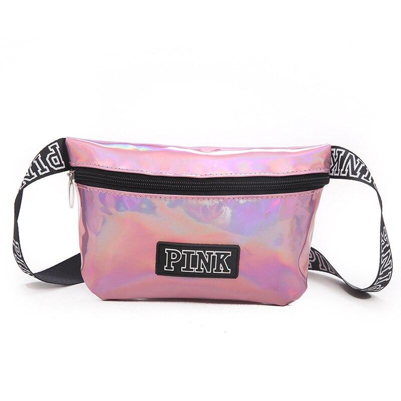 New Waist Bag Women Holographic Women's Belt Bag Pink Fanny Pack Transparent Man Purse Laser Waist Pack Diagonal Casual Pocket