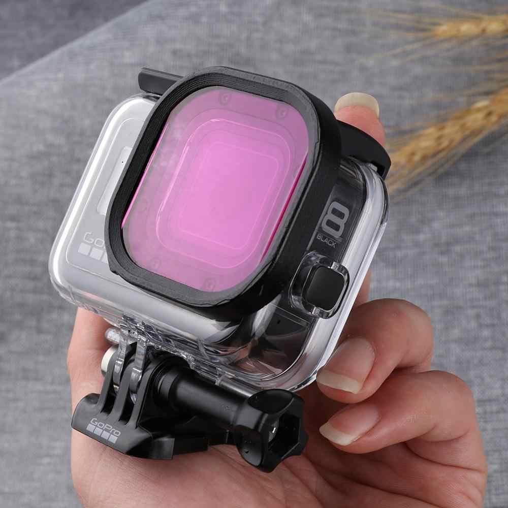 Square Housing Diving Color Lens Filter for GoPro HERO8 Black Durable Color : Pink