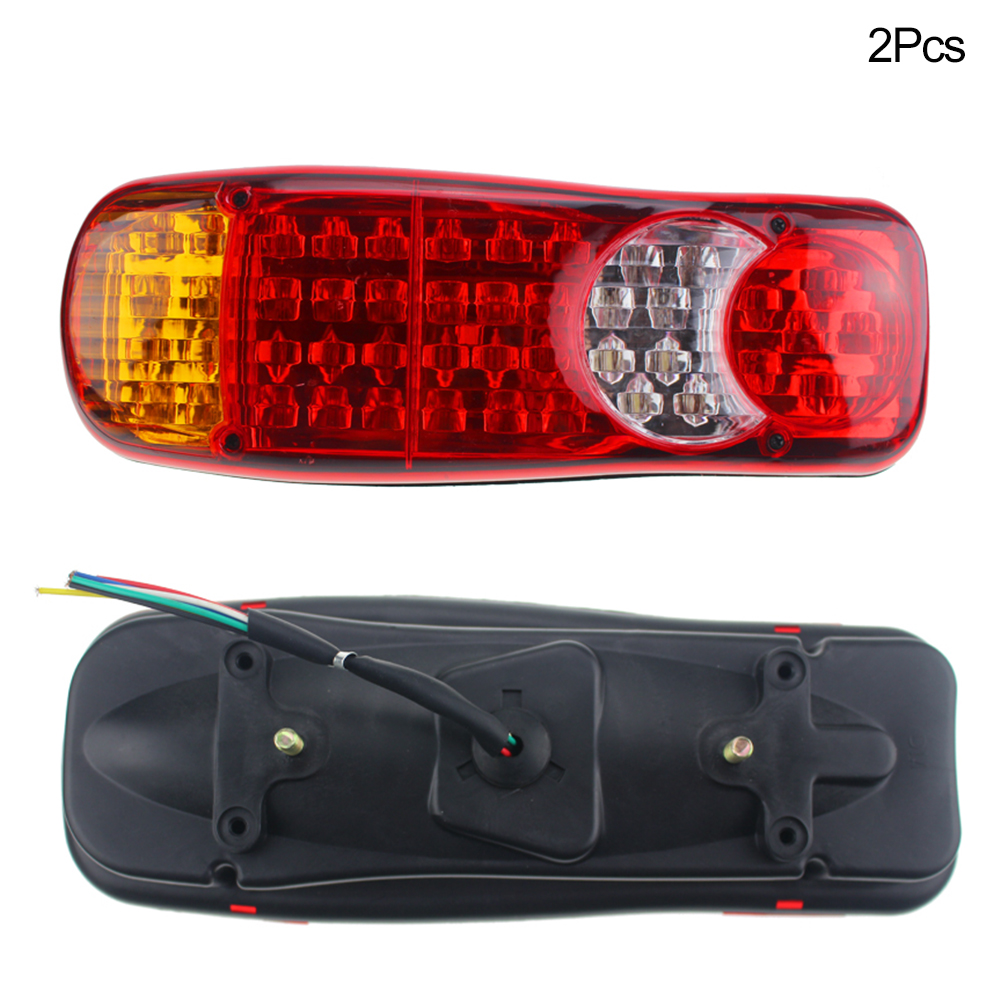 2pcs Warning Rear Brake Indicator Truck Van Left Right <font><b>12V</b></font> Trailer Car Accessories <font><b>Waterproof</b></font> <font><b>LED</b></font> <font><b>Taillight</b></font> image