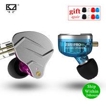 Kz zsn pro ba + dd tecnologia híbrida de metal alta fidelidade fones ouvido baixo esporte com cancelamento ruído fone zs10 pro zst as10 es4