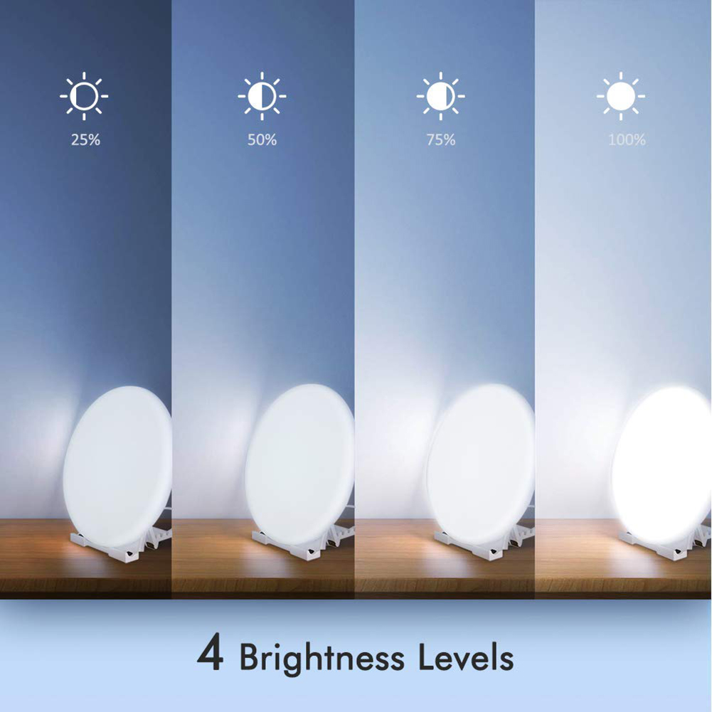 100W SAD Phototherapy Therapy Lamp LED Adjustable Depression Night Light Therapy Lamp Affective Disorder Light