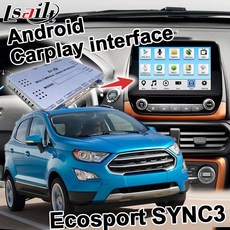Android Carplay Interface Box For Ford Ecosport Ka Plus Gps Navigation Video Interface Box Sync 3 Mirror Link Youtube Lsailt Vehicle Gps Aliexpress