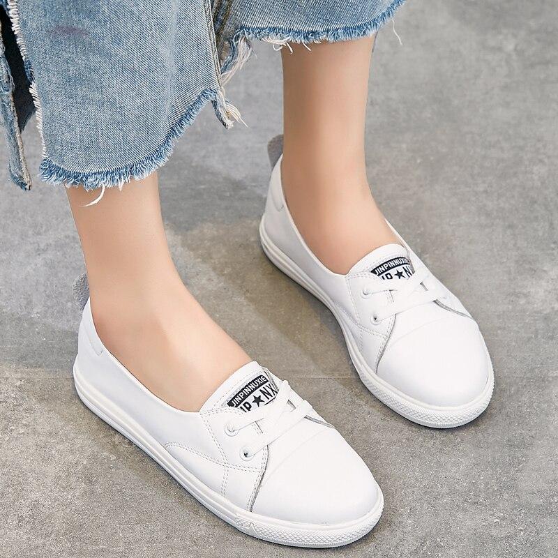 Liren 2019 Spring/Autumn Women Casual Vulcanize Shoes Comfortable Breathable Lace-up Sport