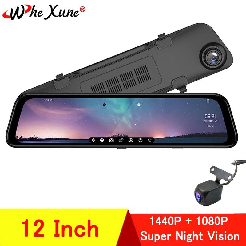 WHEXUNE nuevo espejo de 12 pulgadas 1440P coche DVR Stream Media pantalla táctil coche cámara de salpicadero cámara de visión trasera aparcamiento Monitor grabadora 2018 DOOGEE X55 Android 7,0 de 5,5 pulgadas 18:9 HD MTK6580 Quad Core 16GB ROM Dual Cámara 8.0MP 2800mAh lado huella dactilar teléfono inteligente
