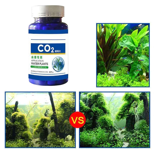60/100Pcs Aquarium CO2 Tablet Carbon Dioxide Diffuser for Water Plant Grass Fish Tank Accessories 6