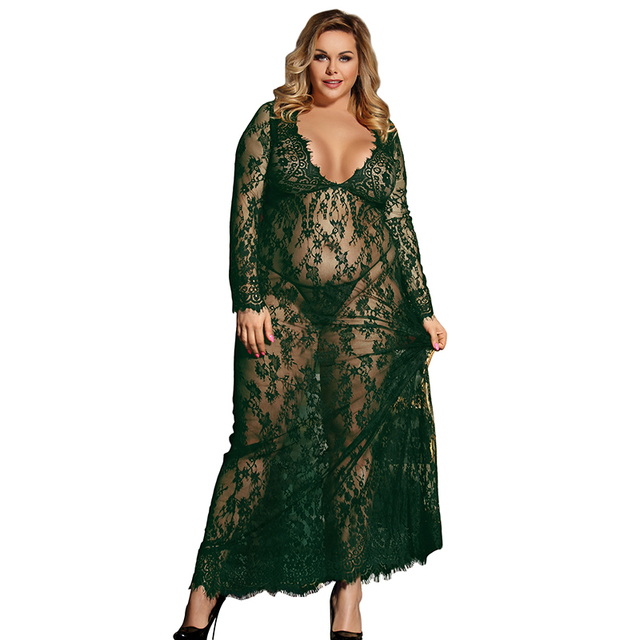 Plus Size Nightgown Lace 4